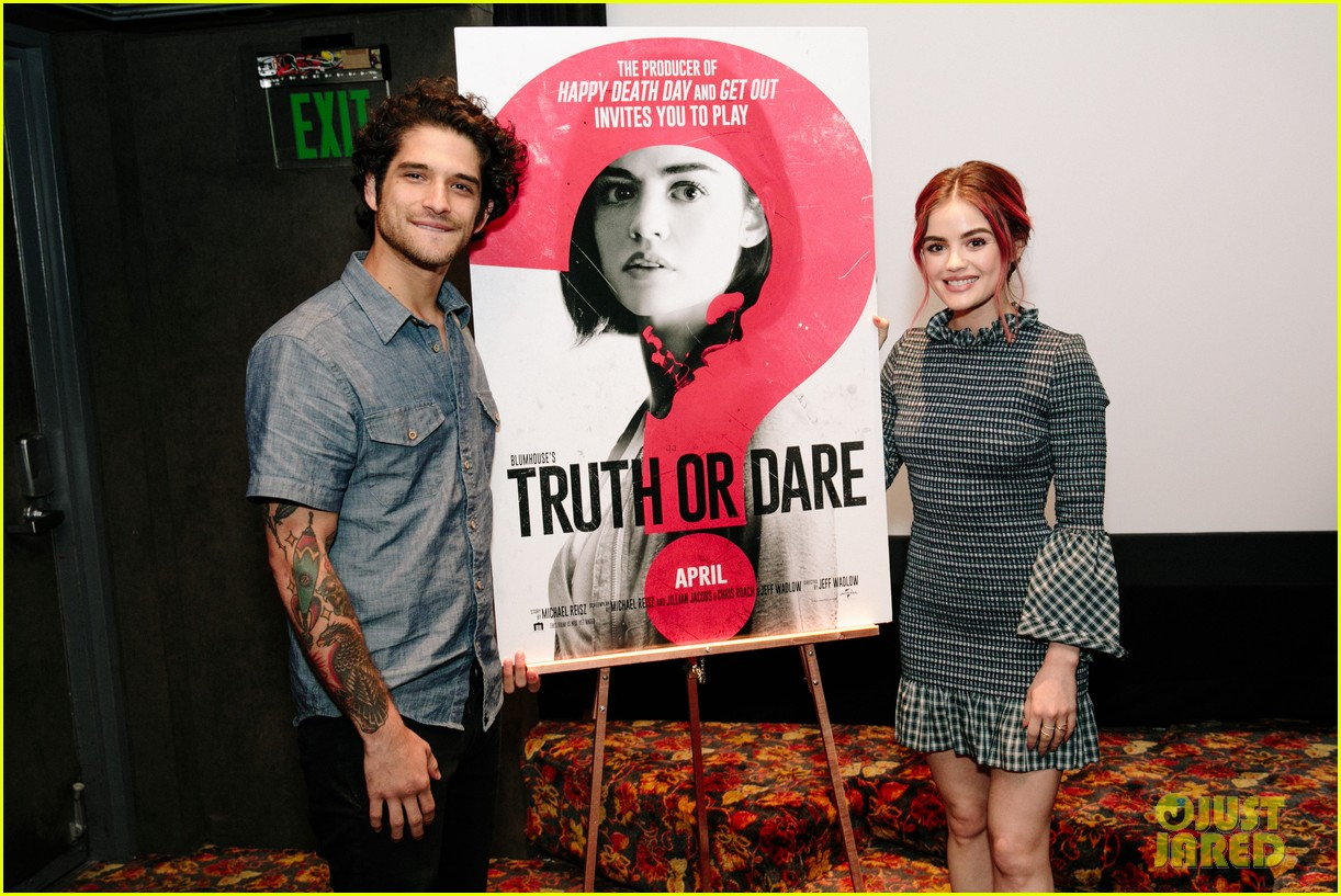 lucy hale tyler posey truth or dare premiere 414063787