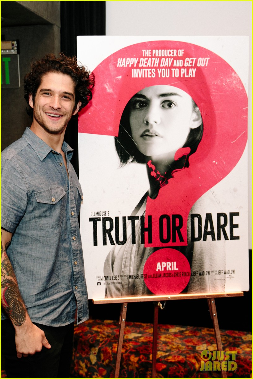 lucy hale tyler posey truth or dare premiere 434063789