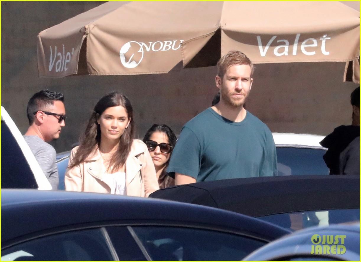 calvin harris and on again girlfriend aarika wolf couple up for nobu sushi date 054071310