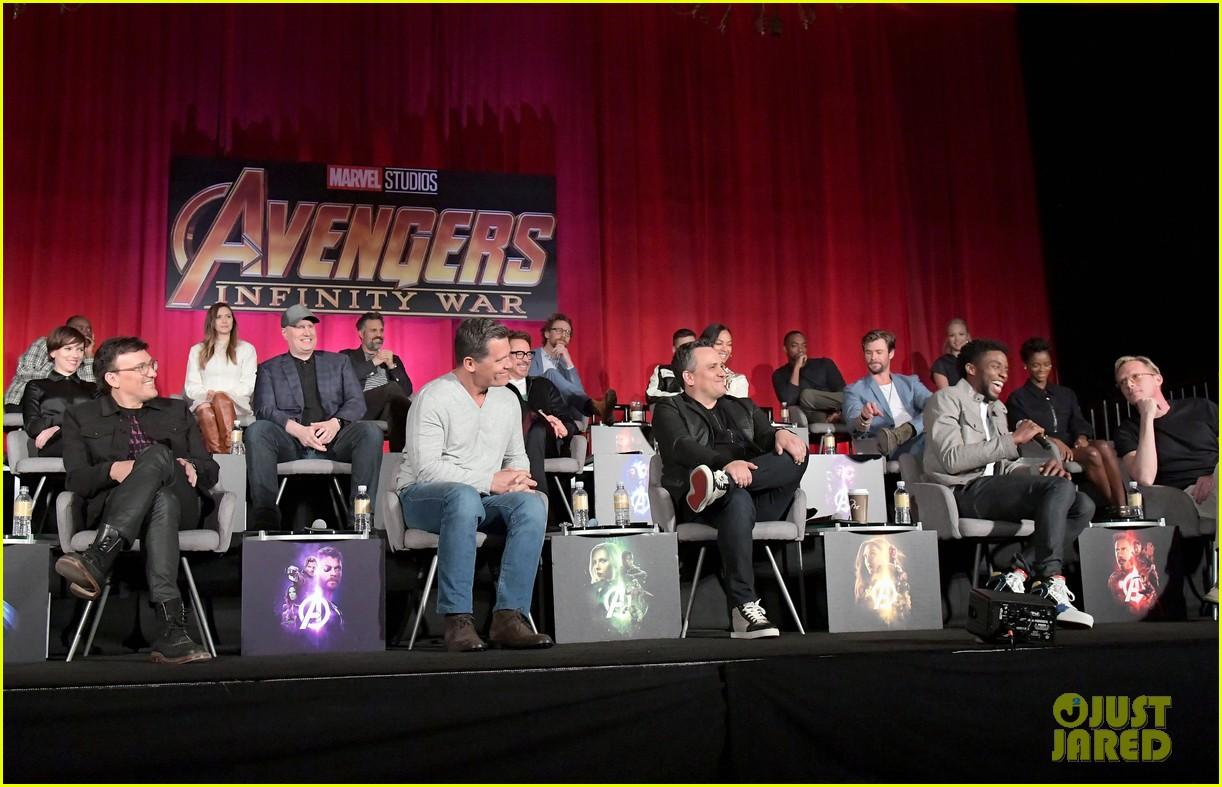avengers infinity war cast get together for global press conference 674069251