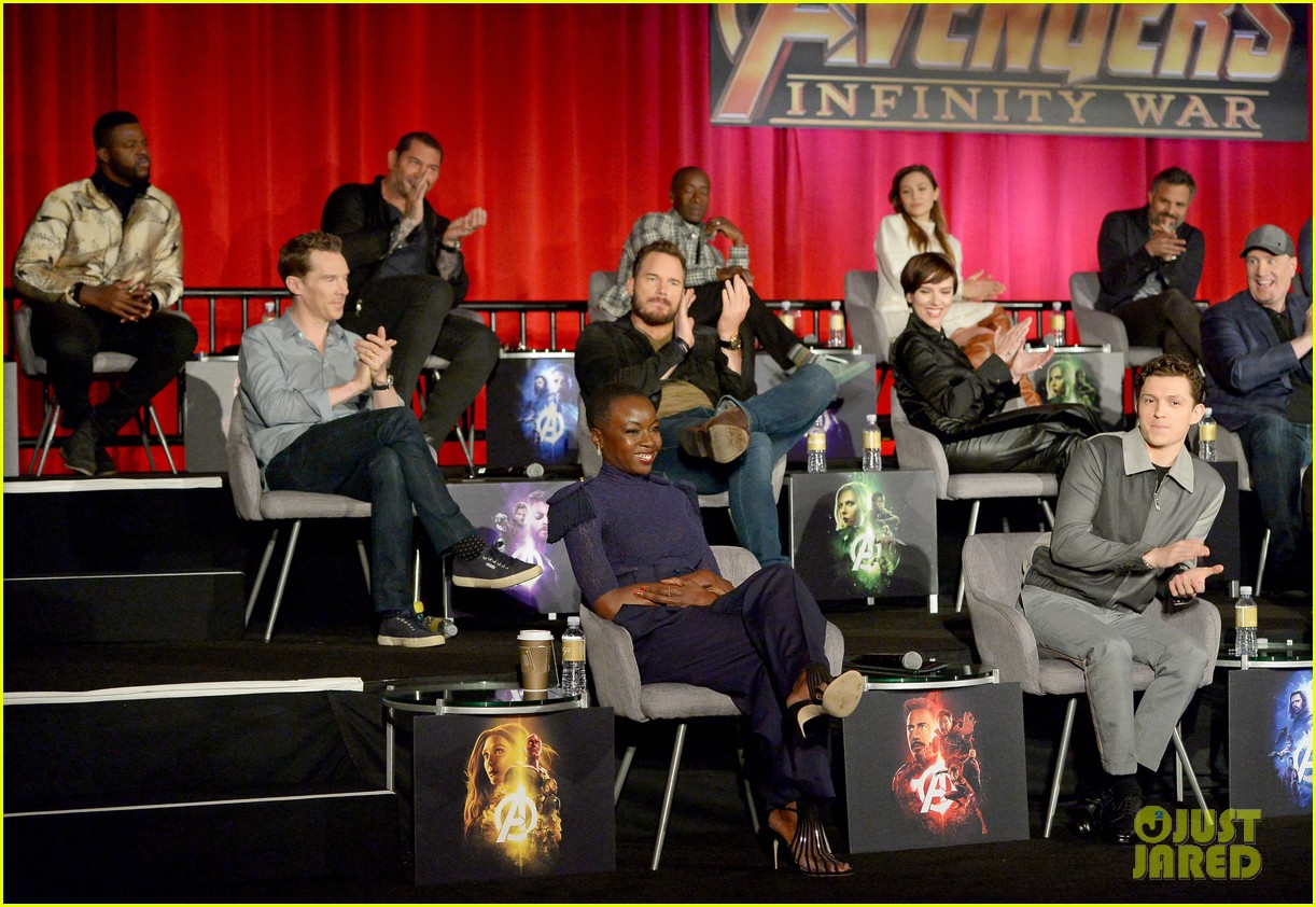 avengers infinity war cast get together for global press conference 694069253