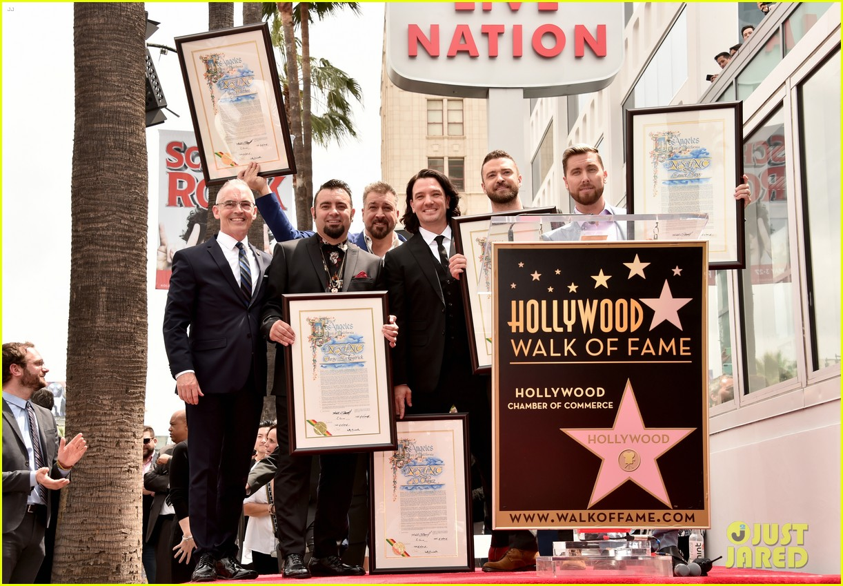 jc chasez nsync walk of fame 024074830