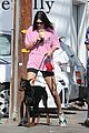 kendall jenner is pretty in pink during coffee run with mystery man 05