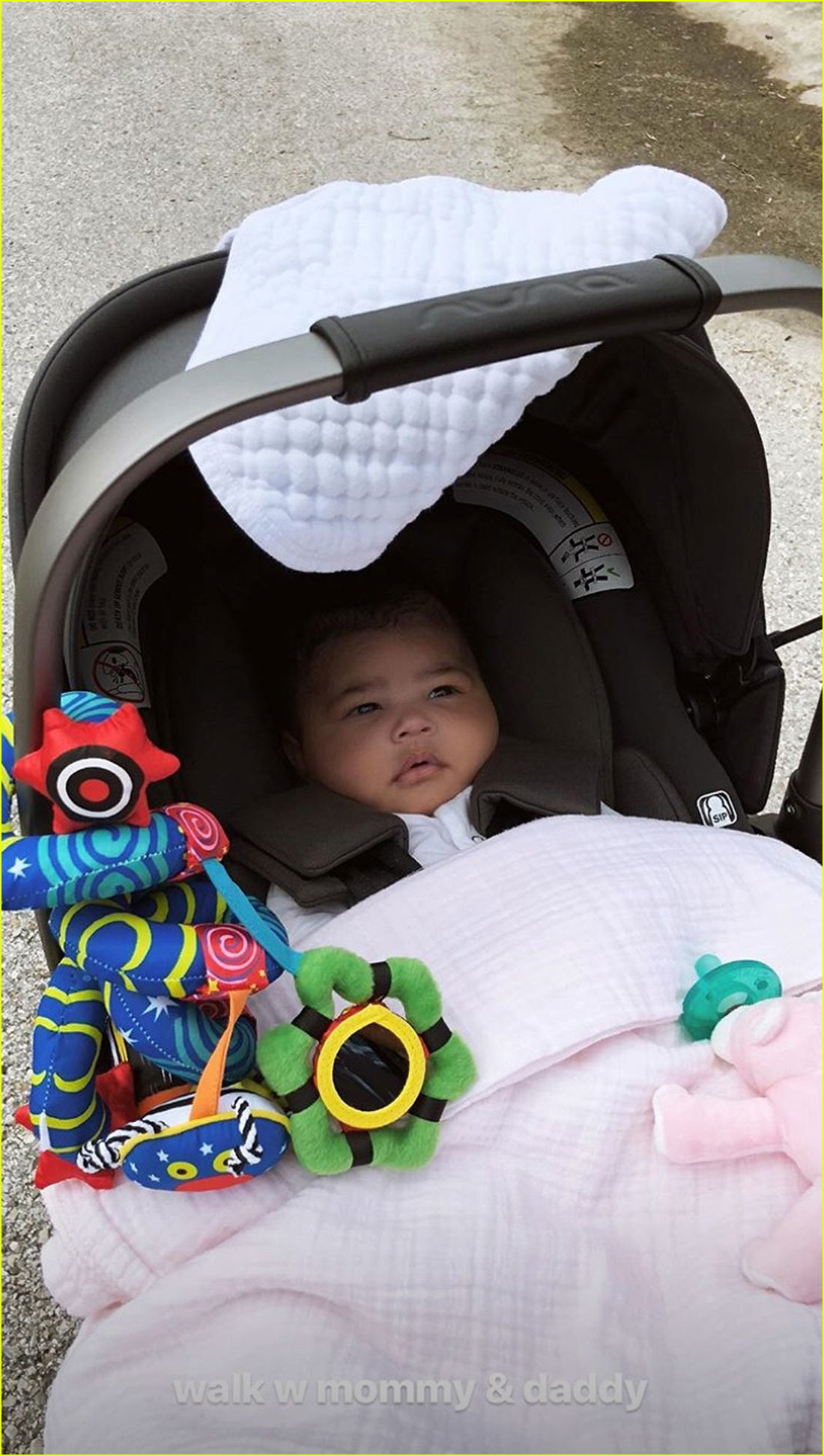 kylie jenner shares sweet photos of sleepy stormi during afternoon walk 024060655