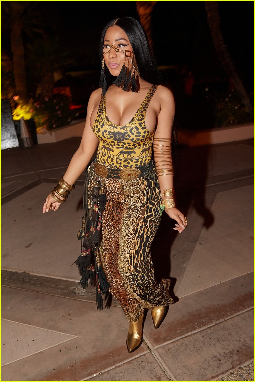 Nicki minaj makes an edgy fashion statement with one tit out in paris high - 2 5