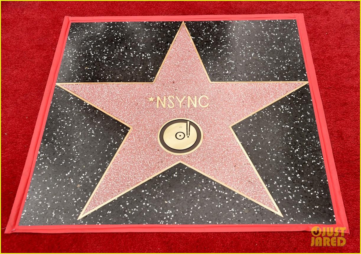 lance bass nsync hollywood walk of fame 034074870