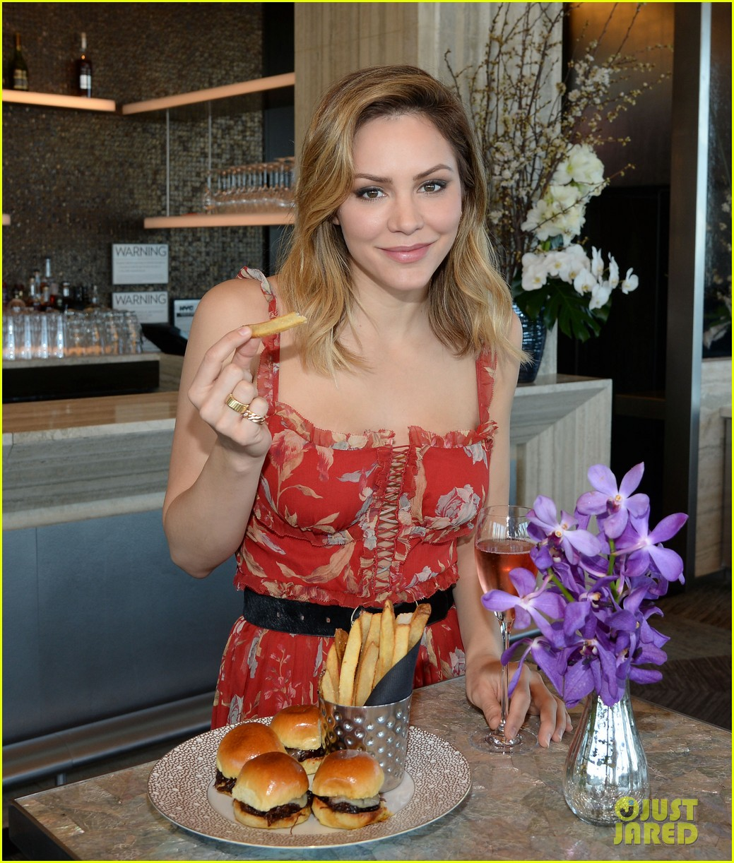 katharine mcphee goes glam while promoting waitress in nyc 034073202