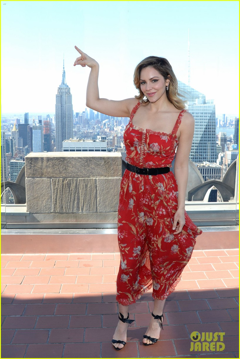 katharine mcphee goes glam while promoting waitress in nyc 064073205