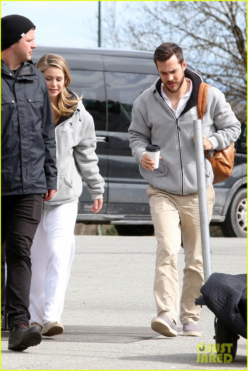 Melissa Benoist & Boyfriend Chris Wood Get Matching On