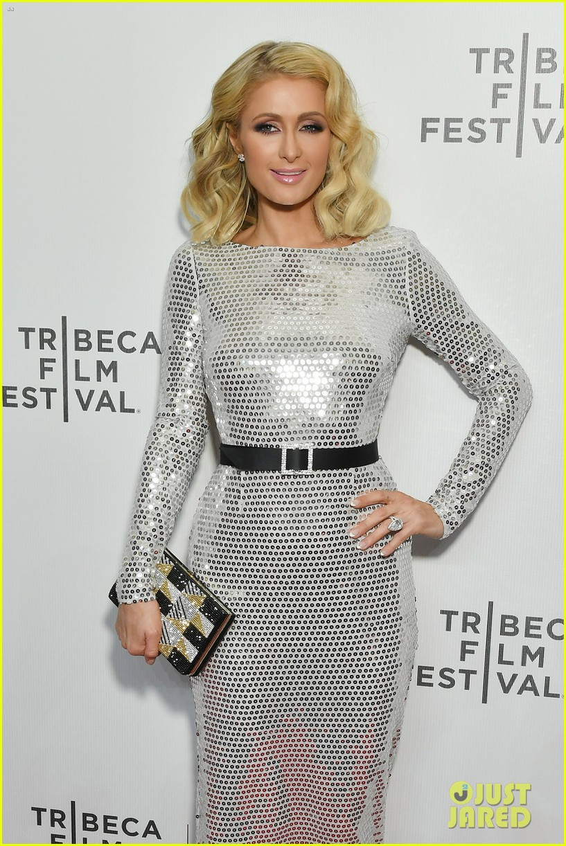 hailey baldwin paris hilton meme movie tribeca 044073645