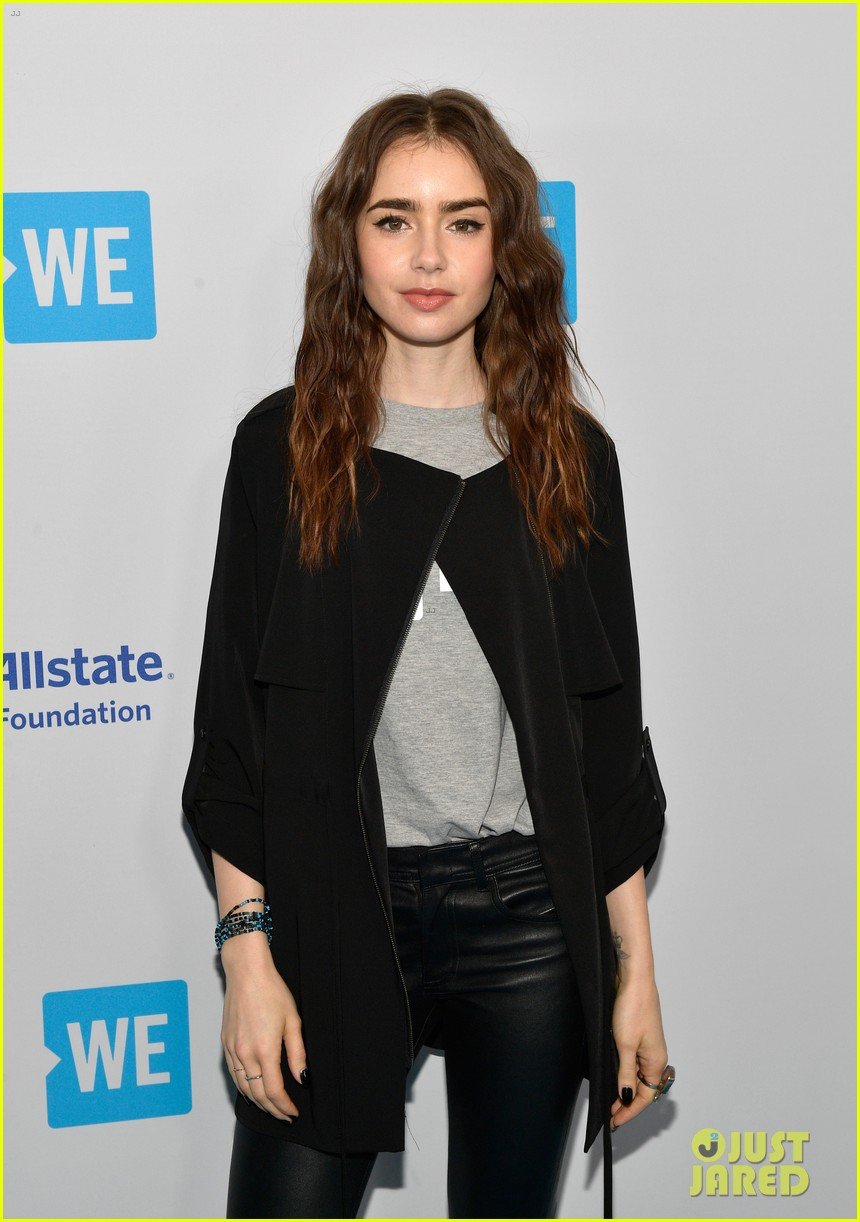 nicole richie lily collins more hit blue carpet for we day california 024067339