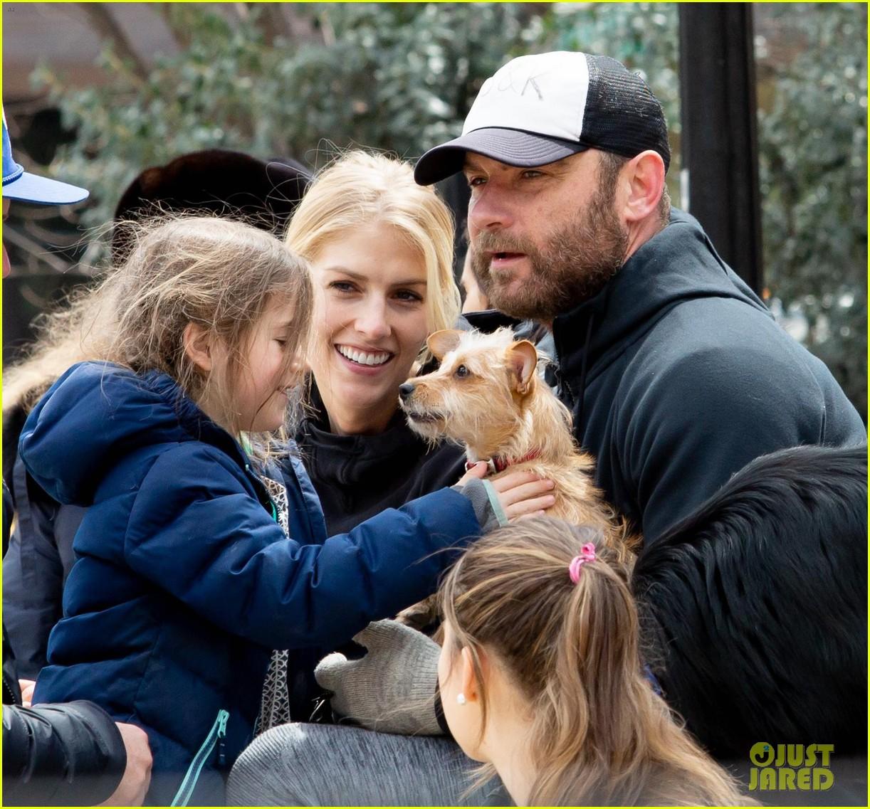 Liev Schreiber & Girlfriend Taylor Neisen Bring Their Pup ...