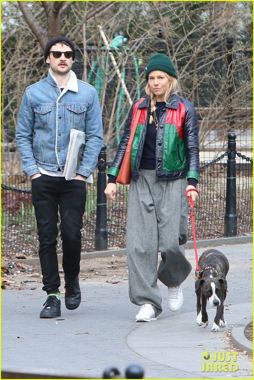 Sienna Miller Takes Her Dog for a Walk with Ex Tom Sturridge: Photo ...