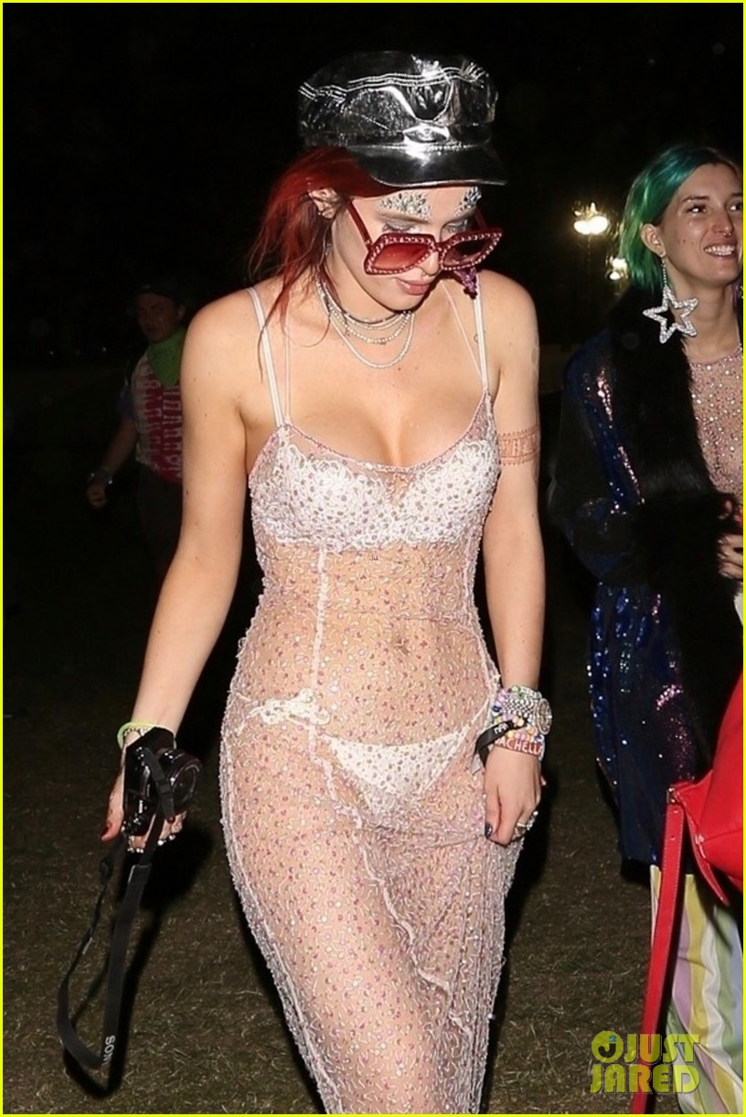 bella thorne sheer dress coachella mod sun 034065911