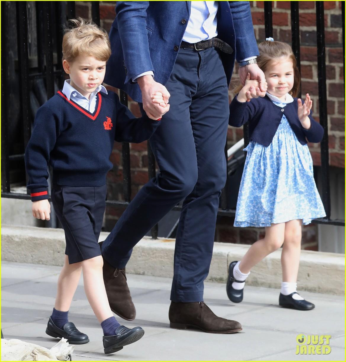 Prince George & Princess Charlotte Arrive To Meet Their