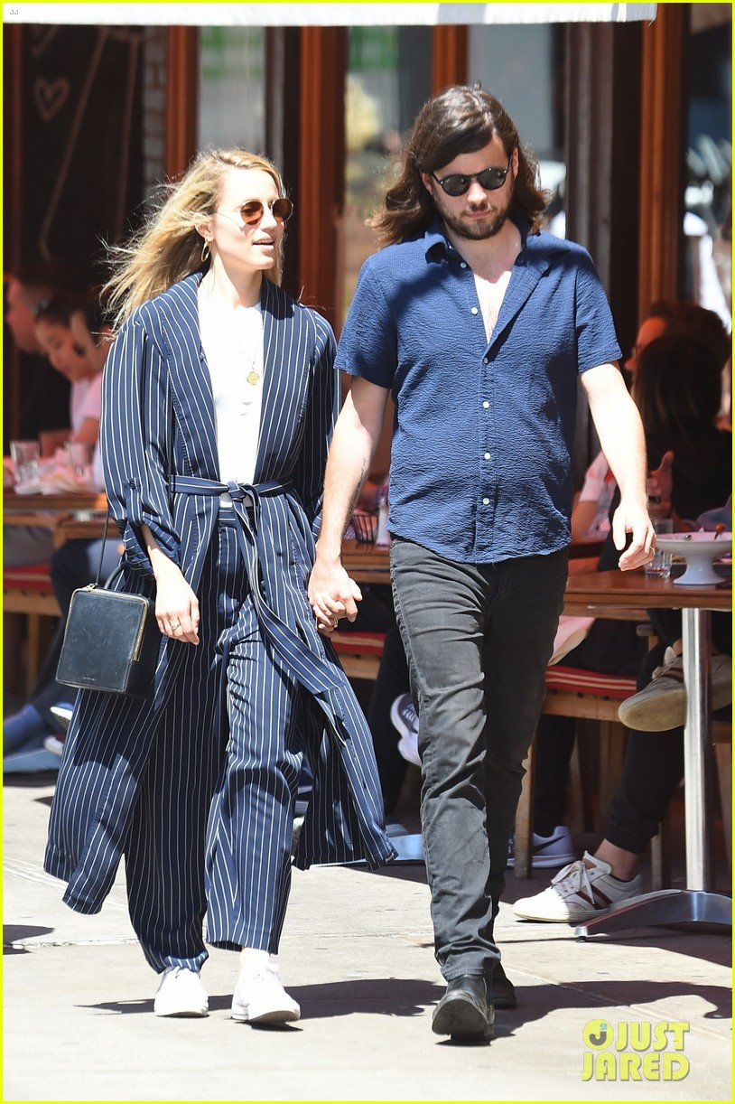 dianna agron winston marshall match in navy clothing 024090630