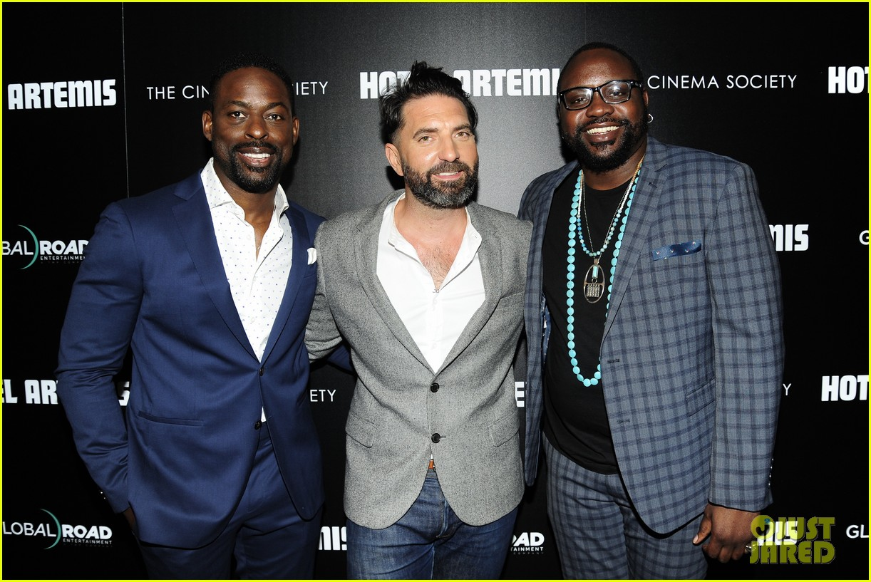 sterling k brown zachary quinto step out for hotel artemis new york premiere 044092745
