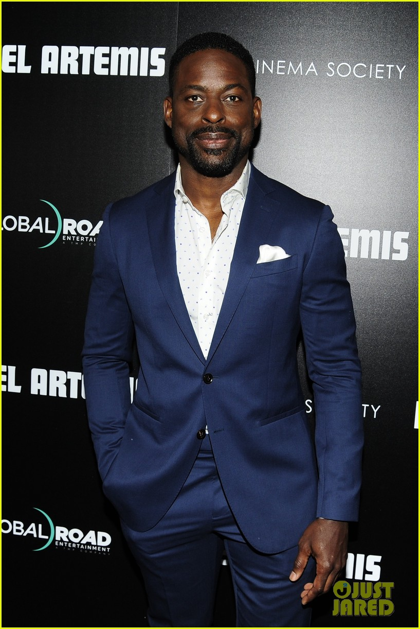 sterling k brown zachary quinto step out for hotel artemis new york premiere 104092751