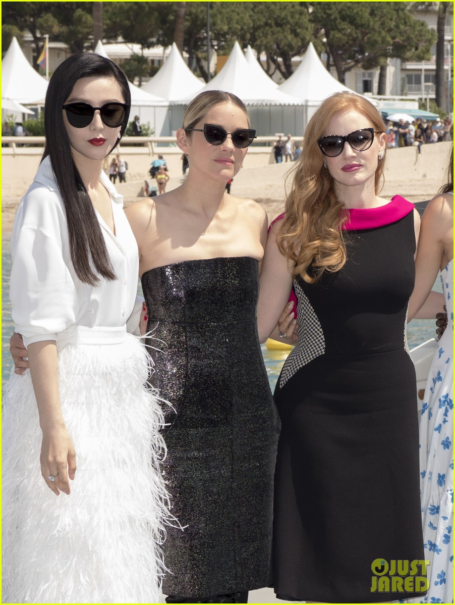 jessica chastain brings first look of spy thriller 355 to cannes with lupita nyongo 014080355