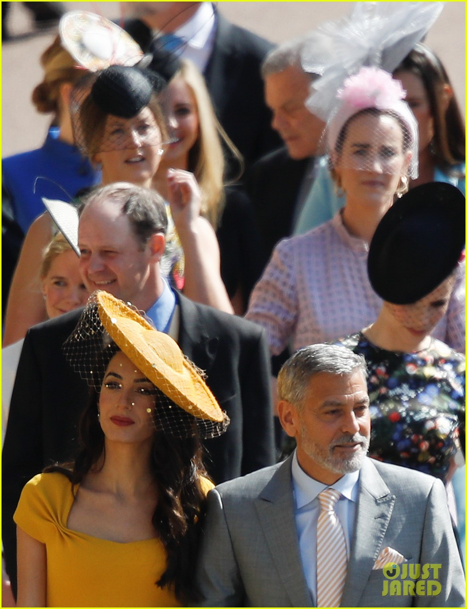 Amal Clooney Royal Wedding.George Amal Clooney Are Picture Perfect At Royal Wedding Photo