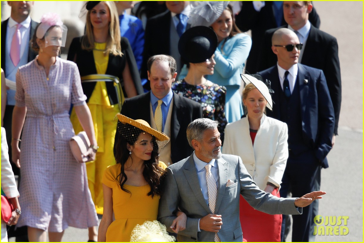 George and Amal Clooney at the Royal Wedding George-clooney-amal-clooney-royal-wedding-13