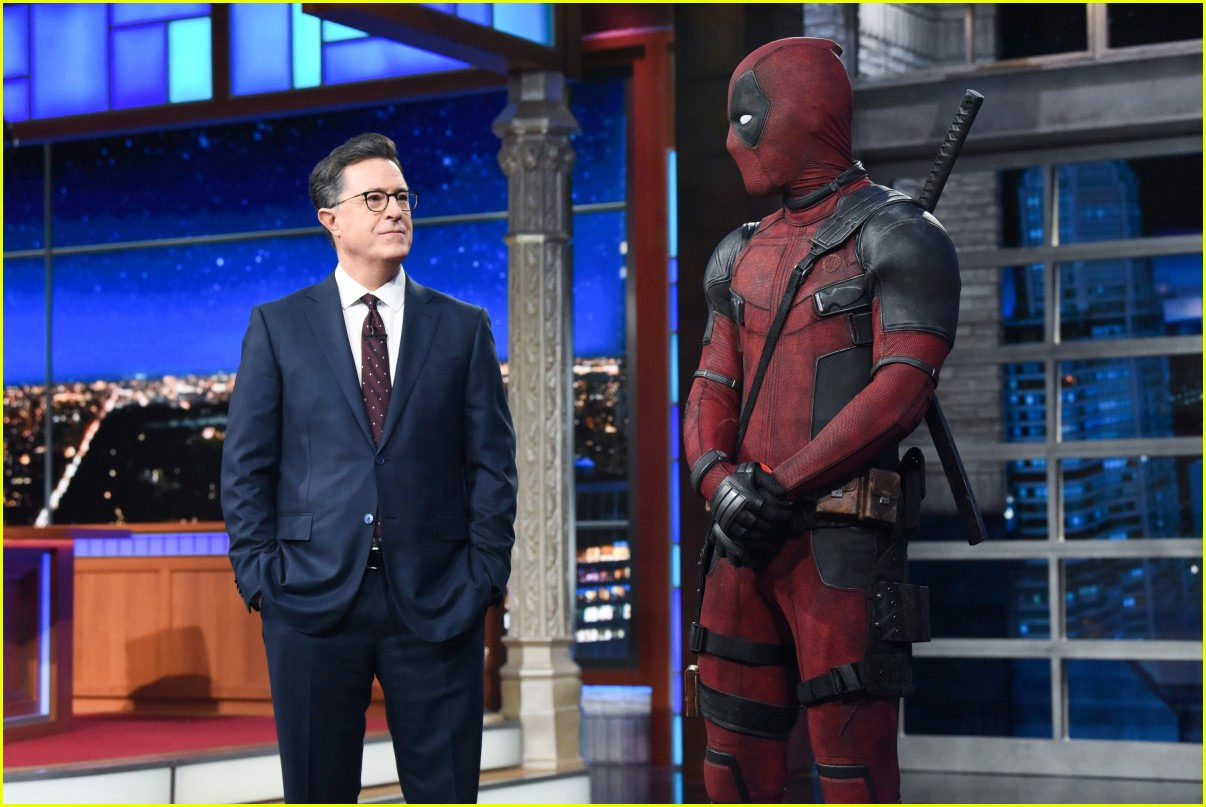 deadpool crashes stephen colbert 024084125