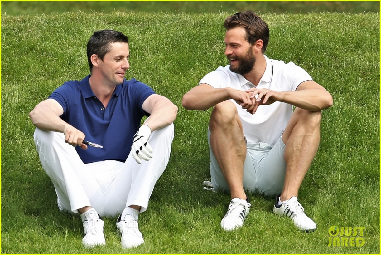 jamie dornan golf game with matthew goode 044090065
