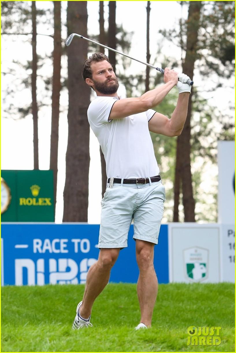 jamie dornan golf game with matthew goode 144090075