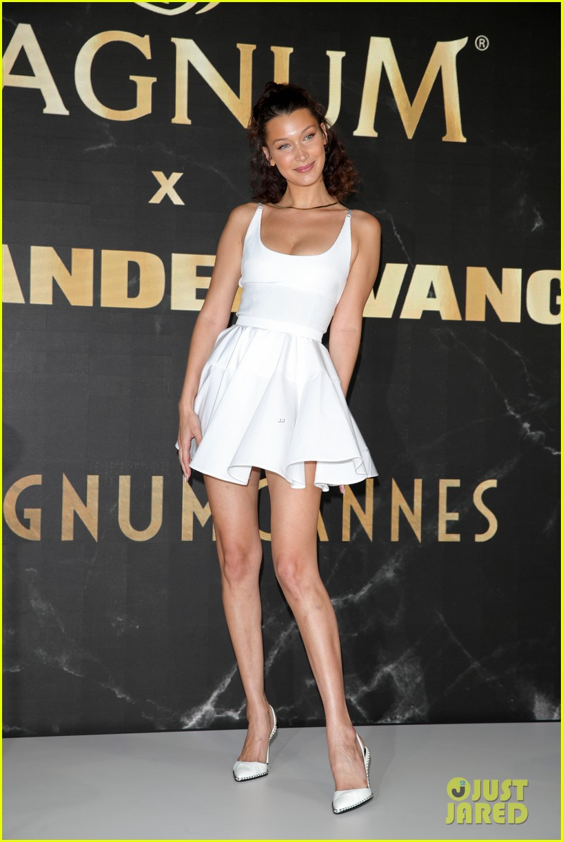 ae9158c90fbb Bella Hadid Stuns at Magnum X Alexander Wang Event in Cannes!: Photo ...