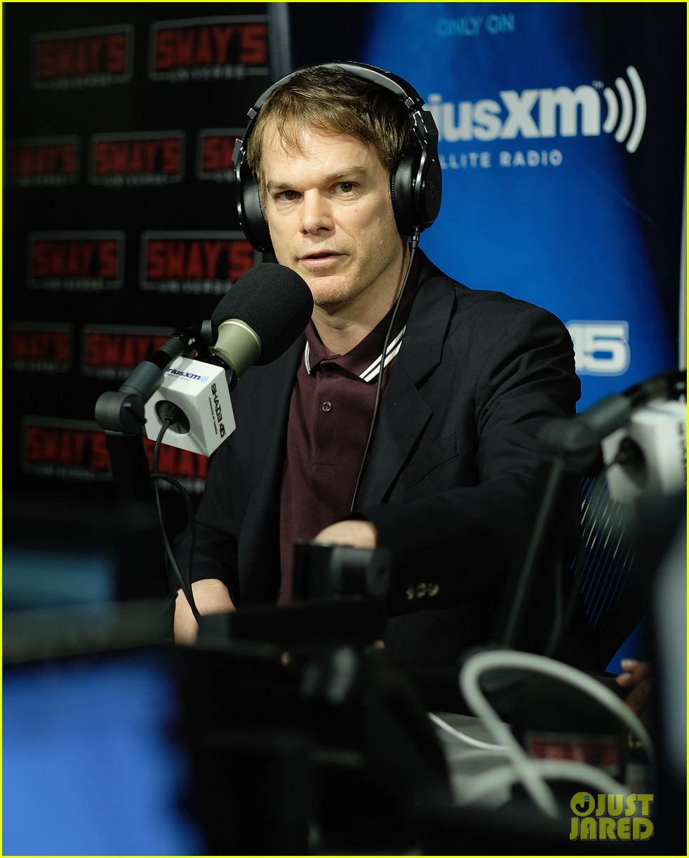 michael c hall visits lauren ambrose at my fair lady on