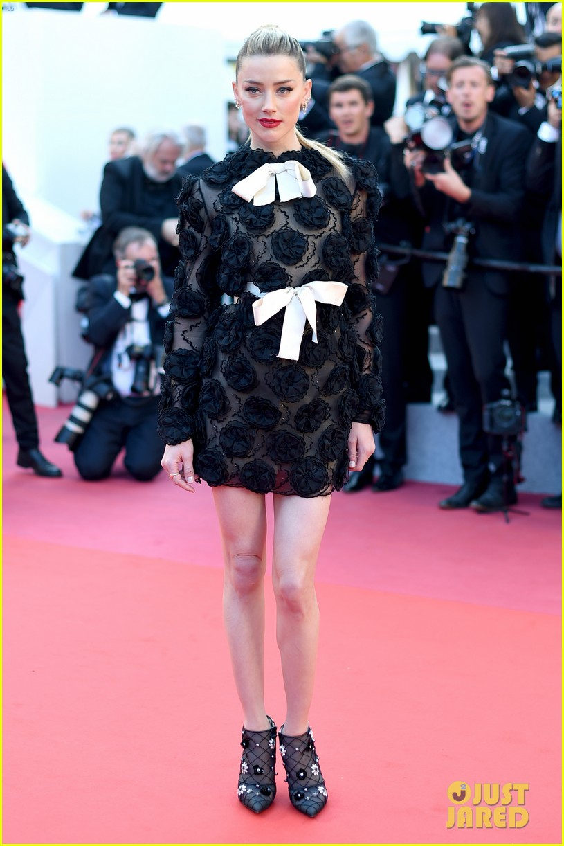 amber heard stuns in black floral dress at cannes 014081667