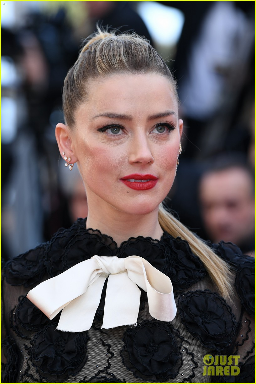 amber heard stuns in black floral dress at cannes 024081668