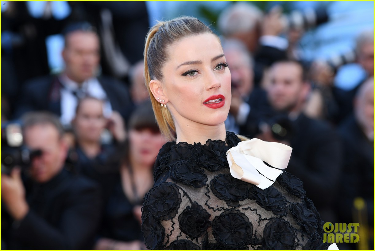 amber heard stuns in black floral dress at cannes 094081675
