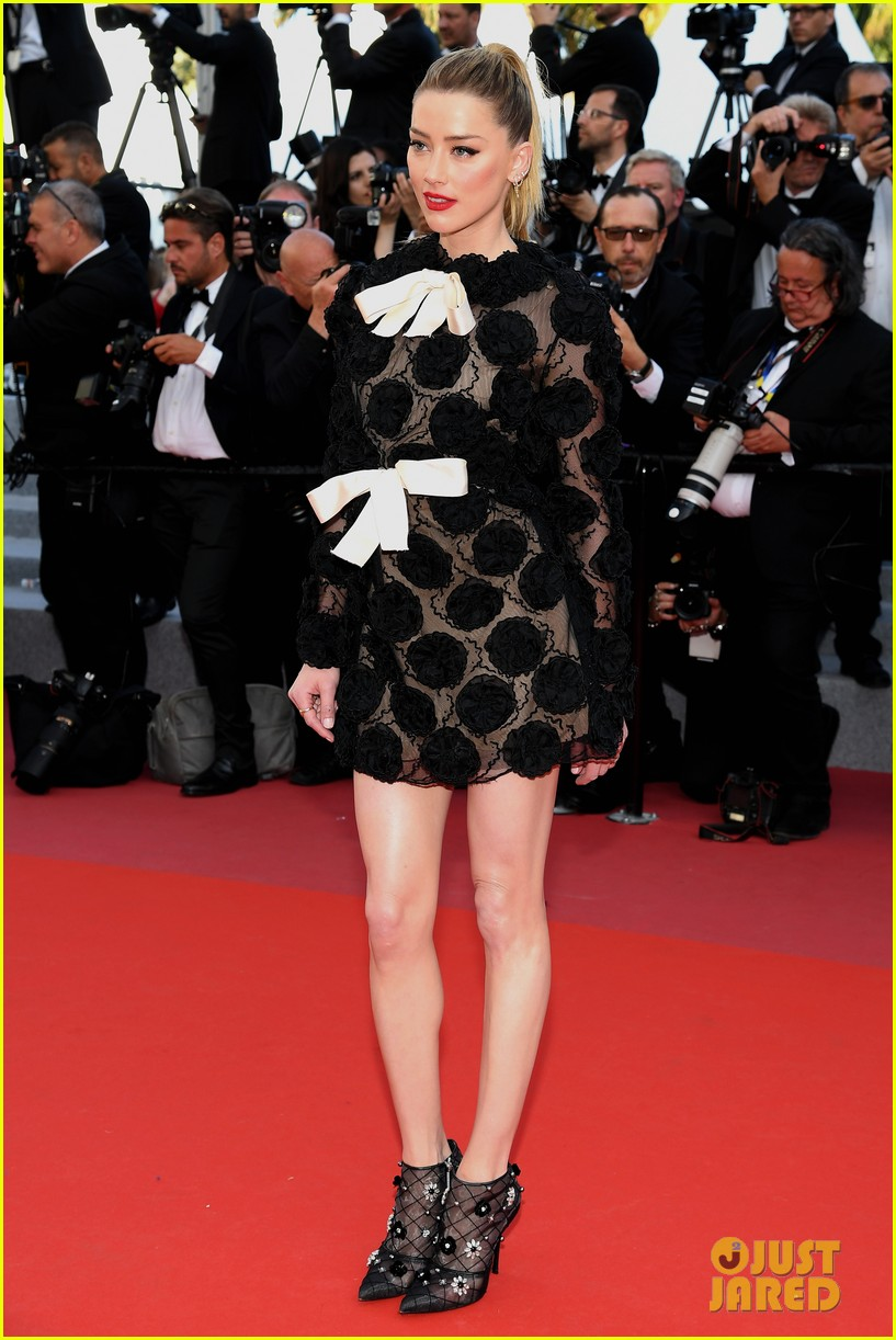 amber heard stuns in black floral dress at cannes 114081677