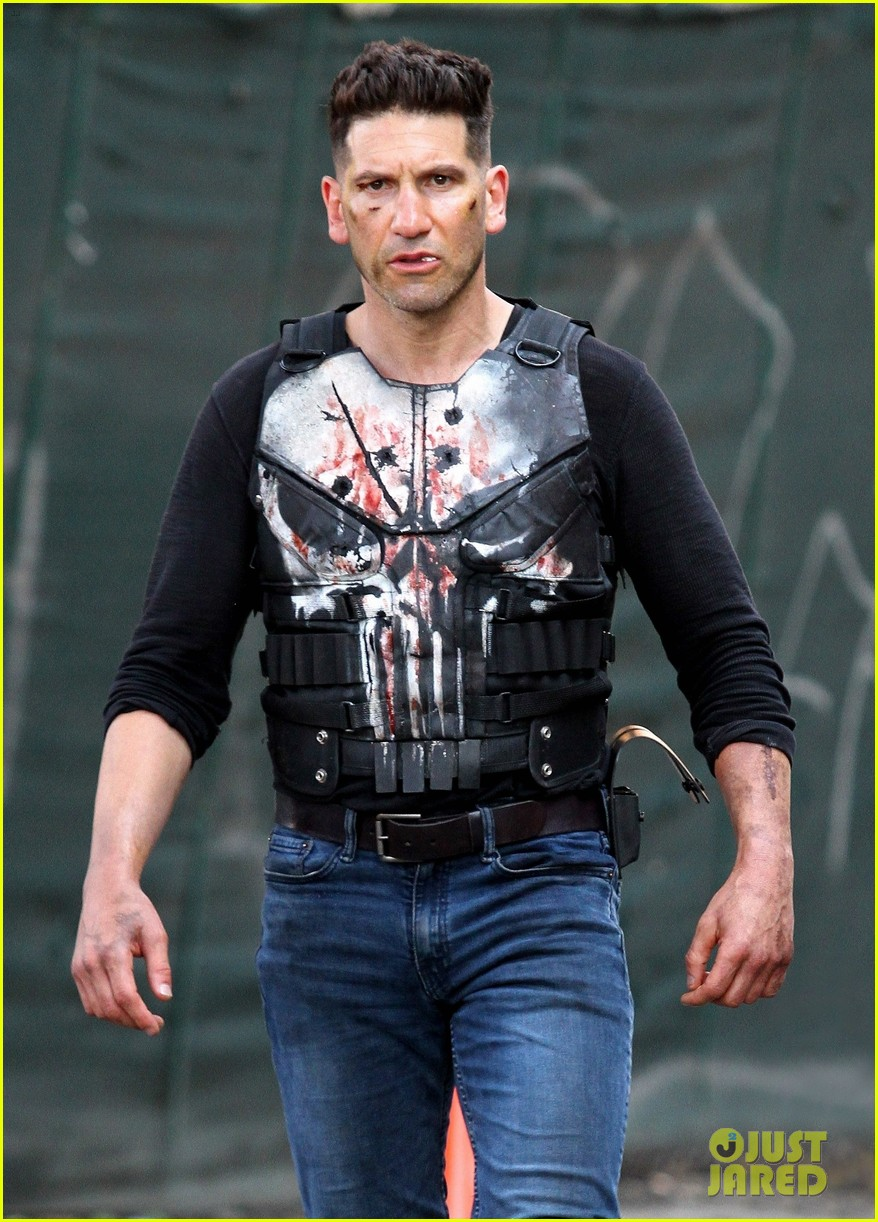 Jon Bernthal Ben Barnes Get In Gun Fight On The Punisher Set