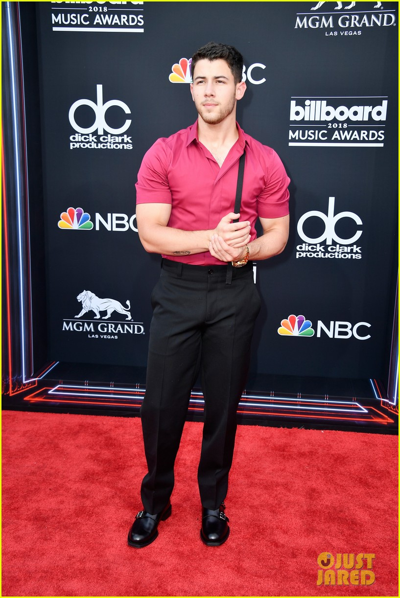 Nick Jonas Muscles Are Bursting Out Of His Shirt At