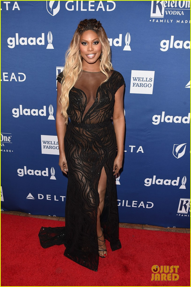 lea michele joins alexis bledel laverne cox at glaad media awards 014077285