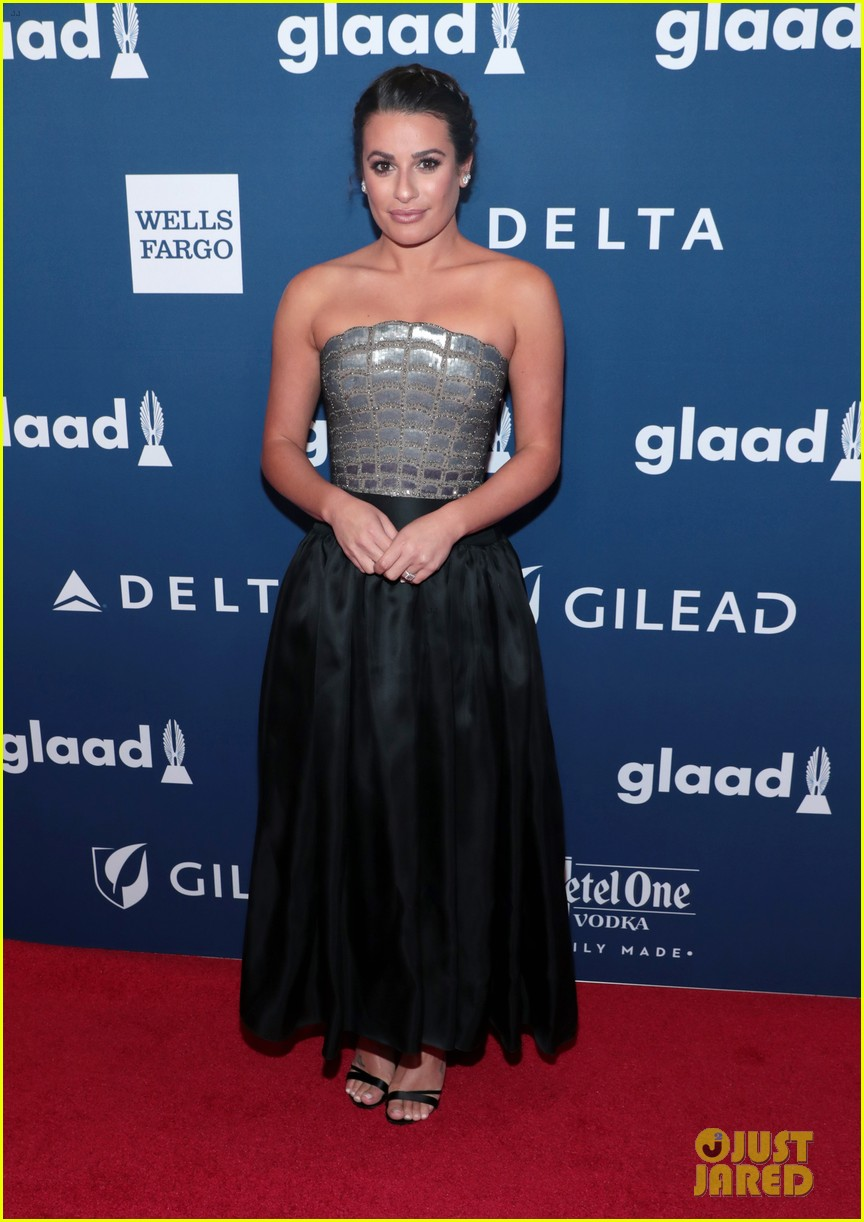 lea michele joins alexis bledel laverne cox at glaad media awards 034077287