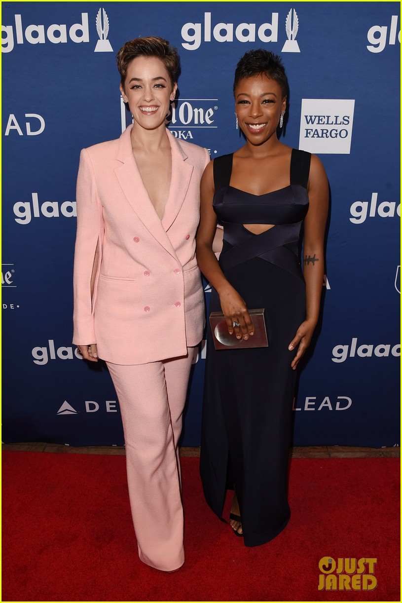 lea michele joins alexis bledel laverne cox at glaad media awards 044077288