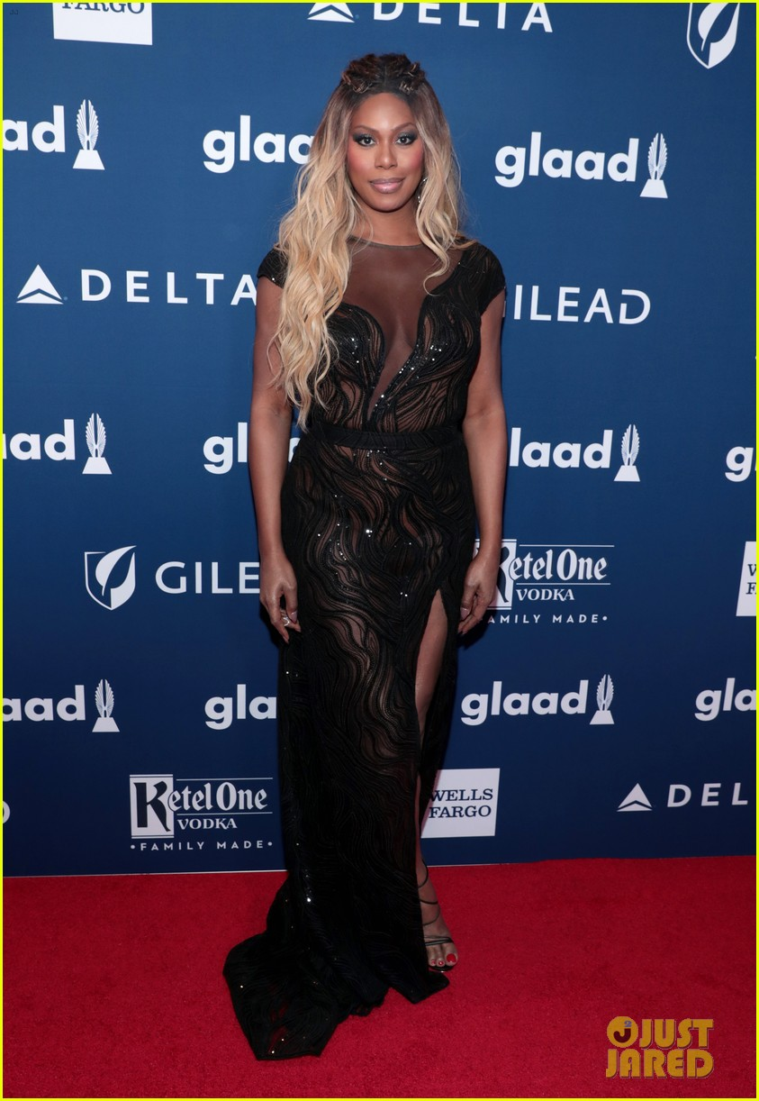 lea michele joins alexis bledel laverne cox at glaad media awards 224077306