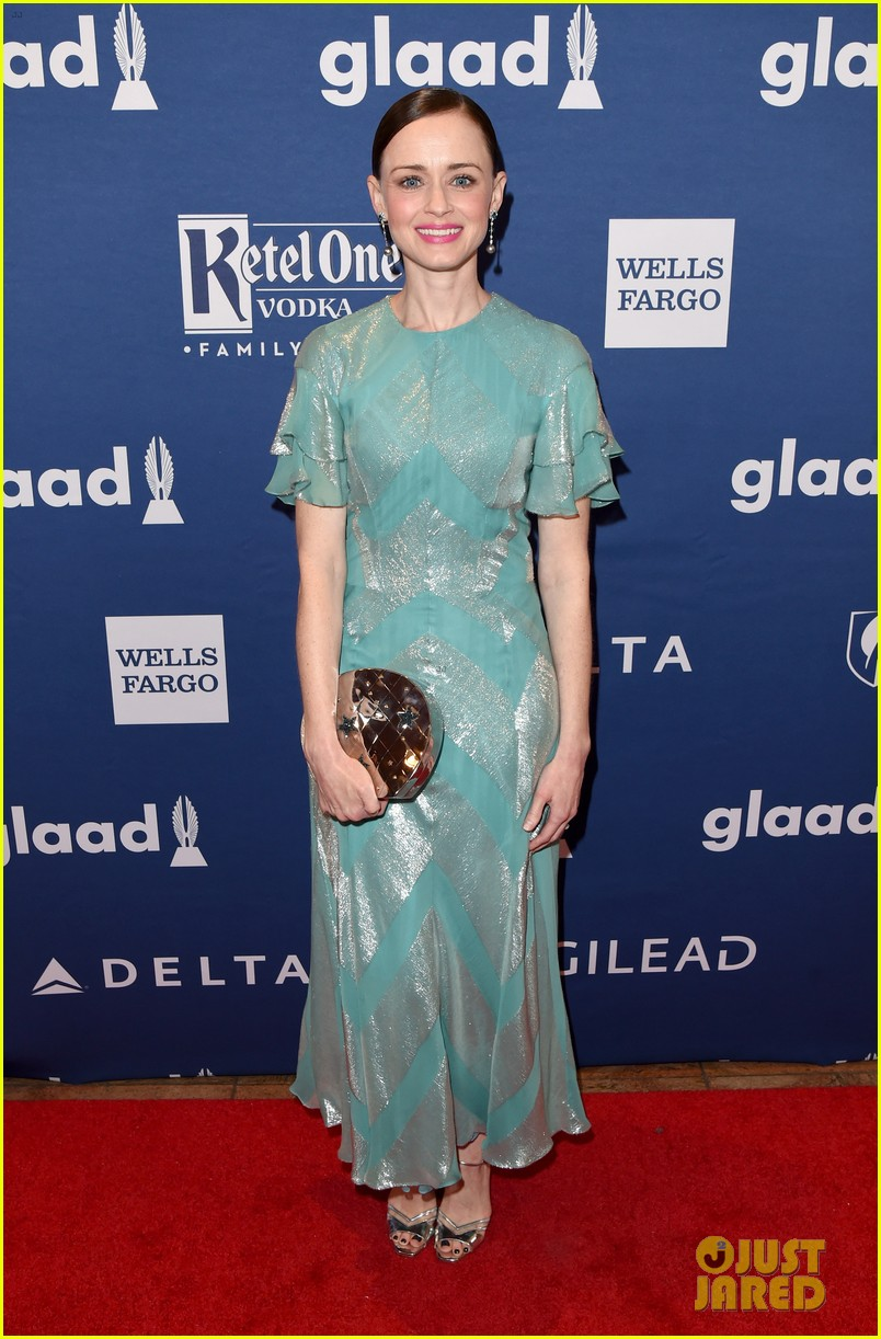 lea michele joins alexis bledel laverne cox at glaad media awards 264077310