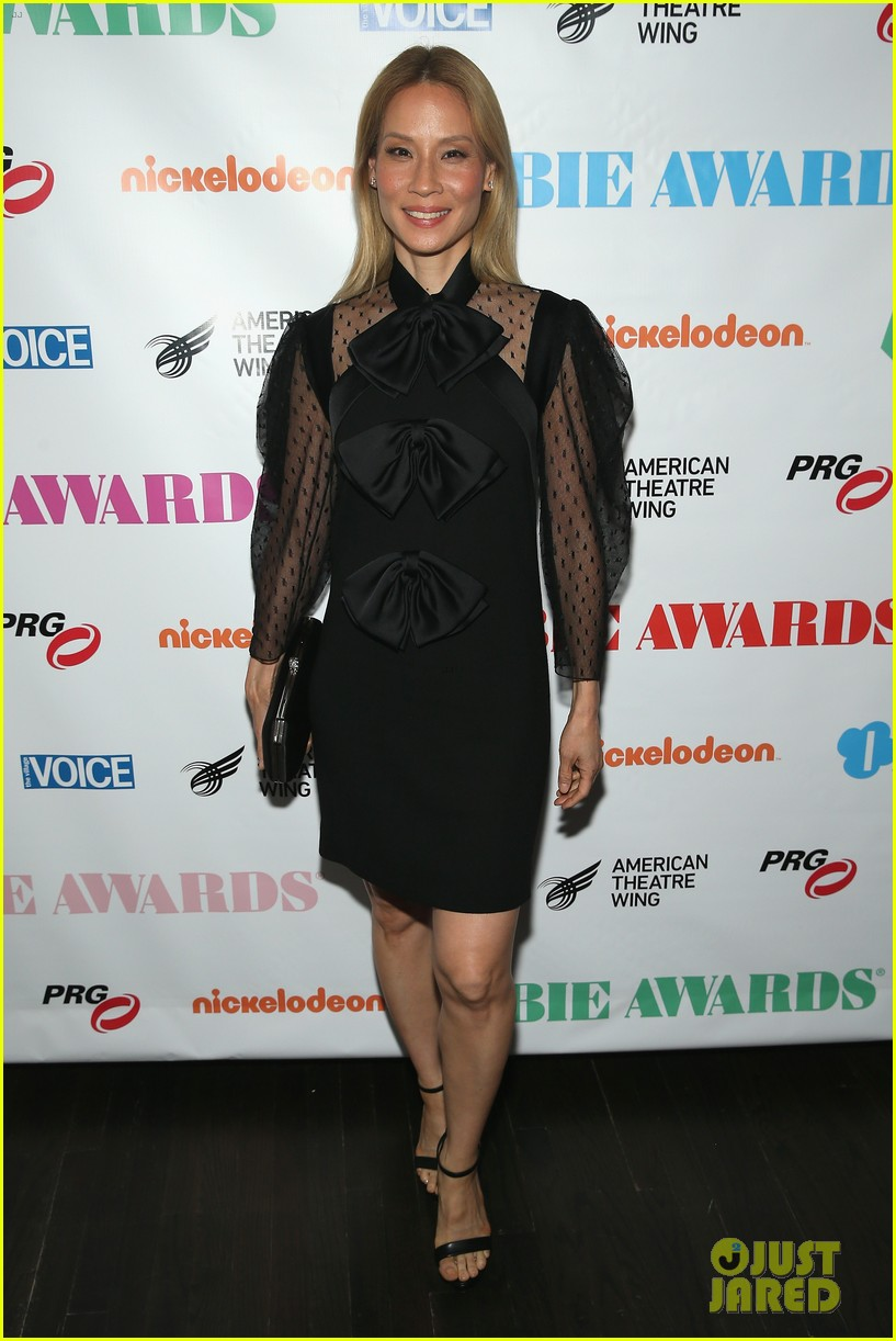 lucy lui debuts blonde hair at obie awards 014088712