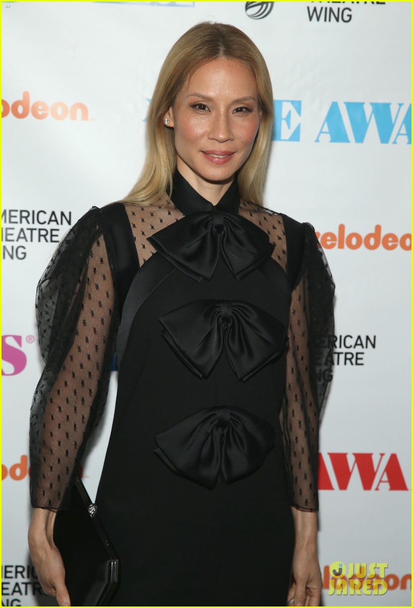 Lucy Liu Debuts Blonde Hair at the Obie Awards in NYC!: Photo 4088715 | Andrew Garfield, Denise ...
