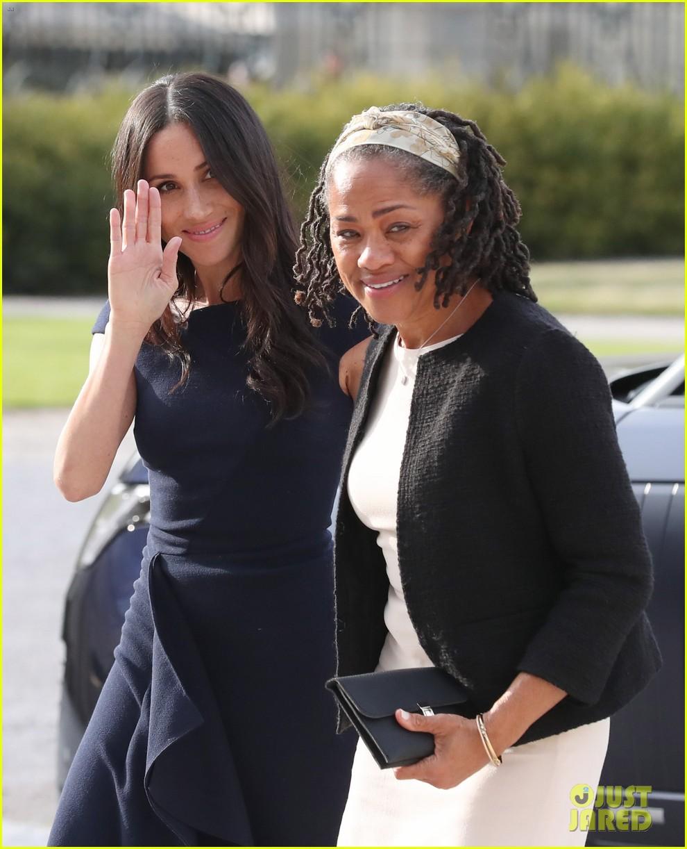 Meghan Markle & Mom Doria Arrive At Cliveden House Hotel
