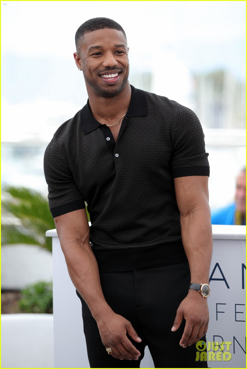 bd29c66960ff0e Michael B. Jordan Attends  Fahrenheit 451  Cannes Photo Call  Photo ...