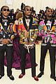 migos match in colorful versace suits and major bling at met gala 2018 02
