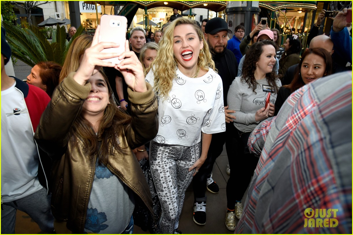 283d90b8ed81 Miley Cyrus Launches  Converse  Collection at Nordstrom in LA ...