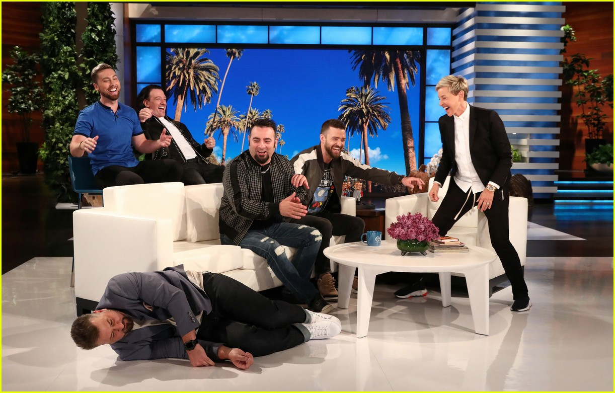 nsync plays never have i ever during surprise appearance on ellen 054075005
