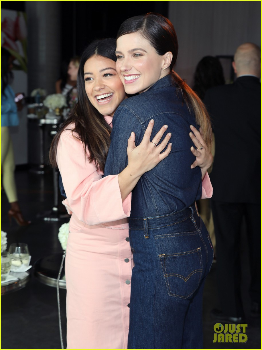 gina rodriguez and sophia bush share a hug at ciroc empowered womens brunch 124090153