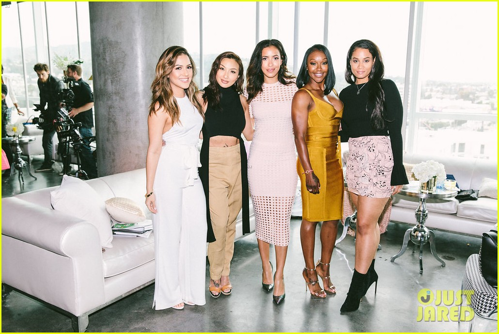 gina rodriguez and sophia bush share a hug at ciroc empowered womens brunch 154090155